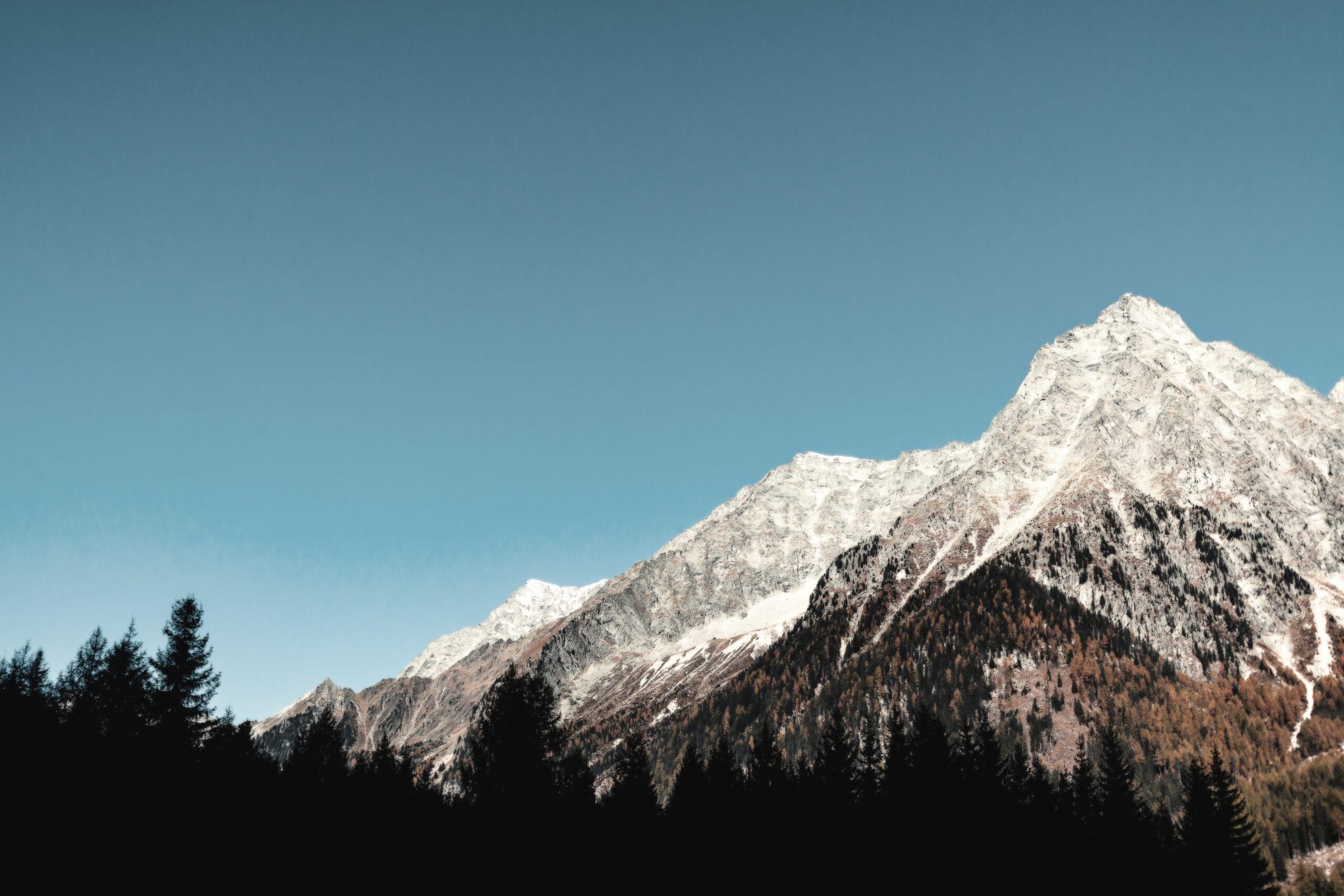 banner met berg